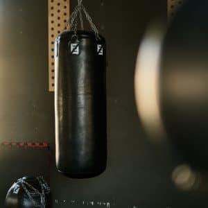 punching bag in gym